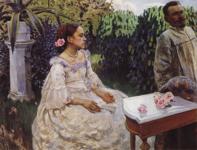 self portrai with sister 1898 XX the russian museum st petersburg russia